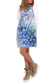 SONJALINE - ROCHIE BUMBAC SATINAT FLORI DE AZUR Sequin Skirt, Sequins, Satin, Skirts, Fashion, Moda, Fashion Styles, Elastic Satin, Skirt