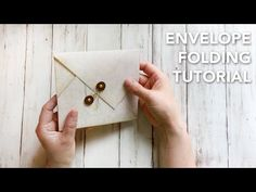 This tutorial shows you how to make a beautiful envelope made of a piece of decorative paper. Quick crafty project for today! Materials & Tools Alice in Wond...