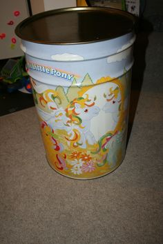 My Little Pony Vintage Storage Bin 1989