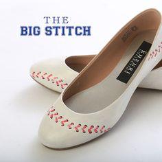 Baseball Wedding/Rehearsal Dinner Shoes. I could make these! <3 #baseball #wedding #etsy