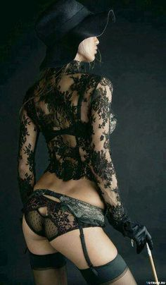 2614ddd8cb This is Gorgeous Laced Black Lingerie