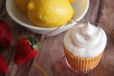 Strawberry Lemon Cupcakes from Bluebonnets & Brownies