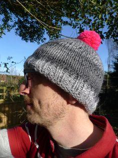 2660cd52f9e Items similar to Vegan mans bobble hat