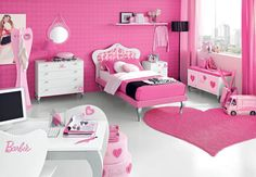 teen bedroom with bright pink color scheme - Google Search