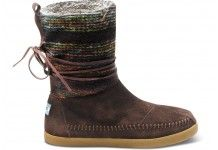 OH MY WORD!!!!   TOMS new Nepal boots!!!   LOVE! LOVE! LOVE! Brown Wool Stripe Women's Nepal Boots