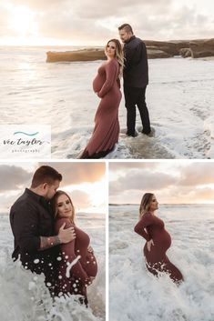 Do you want your Maternity Photos in the Ocean? Vee Taylor can make that happen! Beach Maternity Pictures, Sunset Maternity Photos, Cute Pregnancy Pictures, Maternity Poses, Pregnancy Photos, Maternity Photography Outdoors, Maternity Photographer, Ocean Photography, Swat