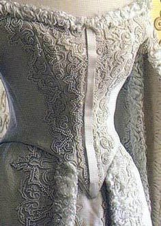Detail of court dress of Empress Alexandra feodrovna - This dress is a very pale blue but tends to photograph white. Alexandra Feodorovna, Historical Costume, Historical Clothing, Historical Dress, Vintage Wear, Vintage Outfits, Vintage Fashion, Court Attire, Celtic Clothing