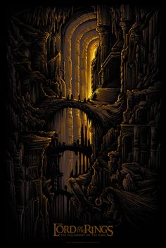 """The Fellowship of the Ring (LOTR)"" by Dan Mumford.  24"" x 36"" 5-color Screenprint.  Ed of 200.  €50 ($56)"