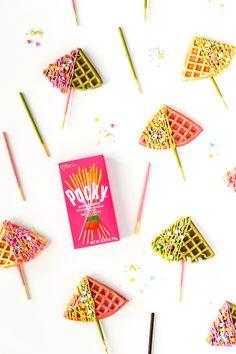 Waffle Pocky Pops //