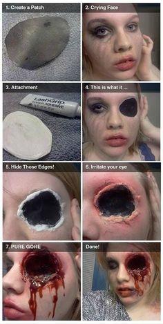 DIY Halloween Zombie with Missing Eye Makeup Tutorial✂ #DIY #Fun #Crafts
