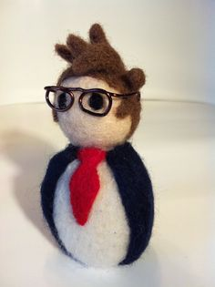 Dr Who Tenth Doctor Needle Felted David Tennant by WoolCamp, $27.00