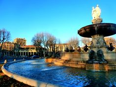 The Rotonde Fountain in Aix en Provence