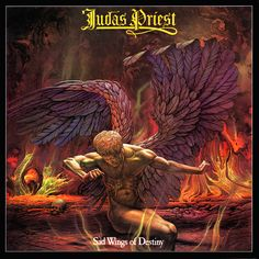 Judas Priest, released in 1976...  The cover art for the album, titled Fallen Angels, was illustrated by Patrick Woodroffe.