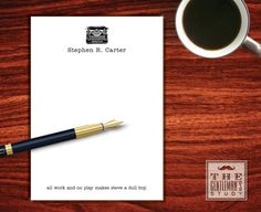 Typewriter Notepad  Custom Stationery for by TheGentlemansStudy