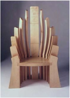 "Rouse-Kent Chair. To save unnecessary weight, use ""Paulownia"" wood for all but 3 of the legs. Google *Paulownia*, it's a fascinating timber species second only to Balsa in density but way stronger."