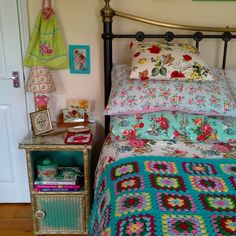 Vintage fabric pillowcases