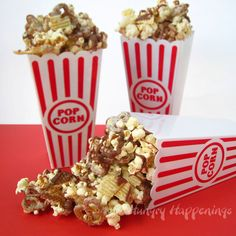 Crunchy & Creamy Chocolate Popcorn with Peanuts, Pretzels, and Chips.