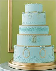 tiffany blue and gold wedding cake golden on blue gold nails and 20992