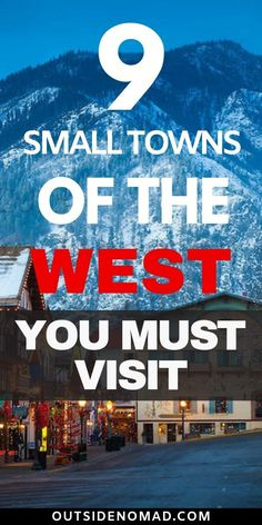 Small town hidden gems of the west. From the southern coast to the rugged Cascade mountains these towns are what make America great. Step back in history with these unique US small towns. Perfect stops for your next USA road trip. Usa Roadtrip, Road Trip Usa, New Travel, Travel Usa, Family Travel, Ultimate Travel, Cheap Travel, Us Travel Destinations, Bergen