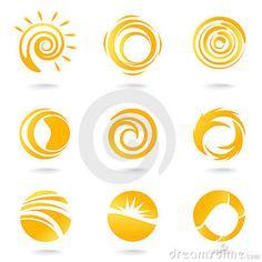 Sun Symbols Royalty Free Stock Photo - Image: 13611915