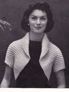 Free knitting pattern for 50s Ribbed Shrug