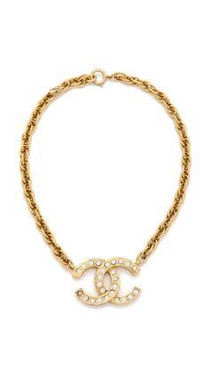 WGACA Vintage Vintage Chanel CC Crystal Necklace. i love chanel!