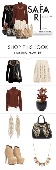 """Safari Style"" by maggiecakes ❤ liked on Polyvore featuring Giambattista Valli, Frame Denim, Lux-Art Silks, Charlotte Russe, Betsey Johnson, women's clothing, women's fashion, women, female and woman"