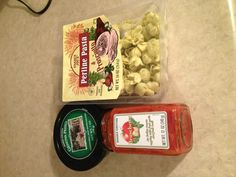 Three ingredients for a great dinner from Trader Joes! (For amounts, two packages of the tortellini would be better than one)