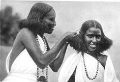 SOMALIA: Somaliland: Hairdressing, Somaliland;  antique print, 1900