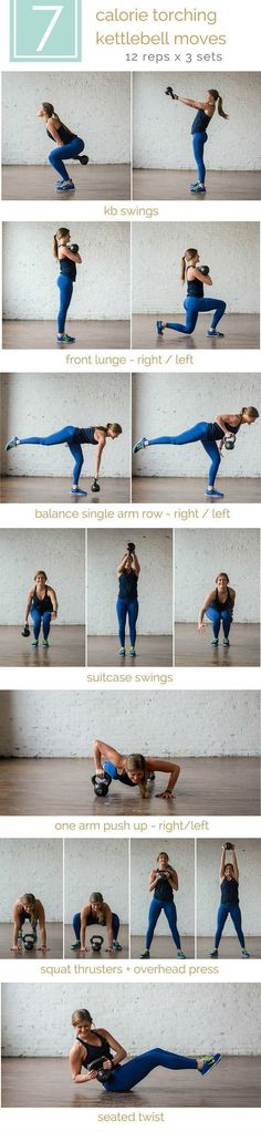 Grab a kettlebell and get MOVING! Increase your strength and burn calories with a single kettlebell + this workout! https://www.kettlebellmaniac.com/kettlebell-exercises/
