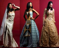 What a beautiful African inspired wedding gown! African Attire, African Wear, African Women, African Dress, African Style, African Theme, African Children, African Design, African Inspired Fashion