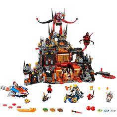 44.59$  Buy now - http://aliq5p.worldwells.pw/go.php?t=32738591472 - 2016 New LEPIN 14019 1244Pcs Nexoe Knights Jestros Vulkanfestung Model Building Kit Minifigure Blocks Brick Toy pokemon 44.59$