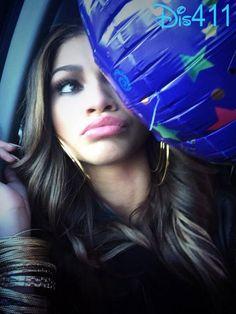 The balloons took up the whole car! -Zendaya