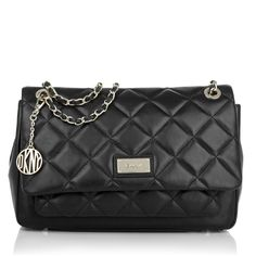DKNY Gansevoort Flap Bag Quilted Nappa Black Shop our birthday gift ideas at Fashionette