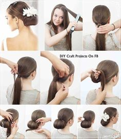 Awesome Simple Hair Hair Buns And Buns On Pinterest Hairstyle Inspiration Daily Dogsangcom
