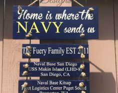 Home Is Where The Navy Sends Us Duty Signs