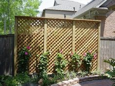 Enhance your property with a lattice or trellis for your outdoor area. Tim's Fences offers beautiful lattice & trellis fence to your garden for an elegant touch. Privacy Trellis, Trellis Panels, Trellis Fence, Wood Trellis, Lattice Fence, Garden Trellis, Deck Trellis Ideas, Lattice Ideas, Lattice Screen