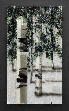 Roger Thomas Glass Studio - ARBOREAL: Opus 498, Evergreen Aspen
