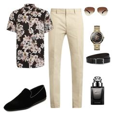 """""""summer style"""" by glamfash ❤ liked on Polyvore featuring Calvin Klein Collection, Topman, Salvatore Ferragamo, Vivienne Westwood, Gucci, Ray-Ban, HUGO, men's fashion and menswear"""