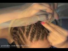 How To Cornrow Your Own Hair! sort of..its really just tiny french braids but still really cute