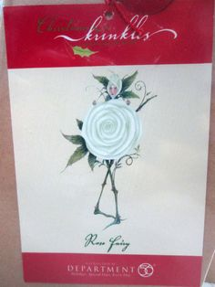 CHRISTMAS KRINKLES - Patience Brewster - WHITE ROSE FAIRY ORNAMENT - SEALED NRFB
