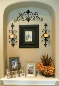Wall Niche Decorating Ideas Elegant 64 Best Wall Niches Images In 2019 Alcove Decor, Niche Decor, Art Niche, Wall Decor, Tuscan Decorating, Interior Decorating, Decorating Ideas, Wall Nook, Niche Design