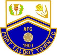 Port Talbot Town of Wales crest. Welsh Football, British Football, Division, Fifa, Bristol Rovers, Football Team Logos, Soccer Teams, Badges