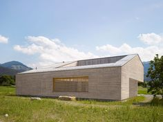 Wooden House with an Inner Courtyard in Austria designed by Bernardo Bader