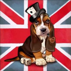 Check out the deal on Cazenave British Dog Ceramic Accent & Decor Tile - MC2-006bAT at Artwork On Tile Online Storefront