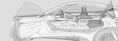 Car Interior Sketch, Car Interior Design, Interior Rendering, Car Sketch, Cool Sketches, Transportation Design, Mobile Design, Portfolio Design, Peugeot