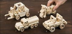 Easy-To-Build Wooden Toy Kits - Gifts