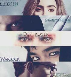 Clary, Jace, Valentine, Magnus, and Simon: City of Bones
