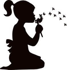Find images of Silhouette. Silhouette Painting, Silhouette Images, Girl Silhouette, Silhouette Projects, Dandelion Drawing, Blowing Dandelion, Cat Vector, Photos 2016, Stencil Art