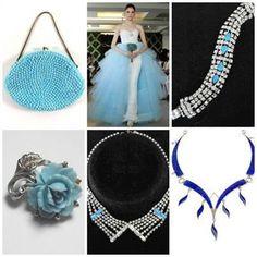 Something blue.....www.vintagebridaljewellery.co.uk Something Blue, Wedding Accessories, Vintage, Wedding Props, Vintage Comics, Primitive
